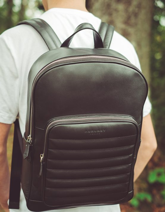 Black Nappa Leather Backpack